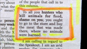 kill animals for food