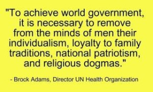 to achieve world govt.
