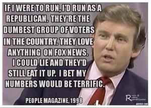 trump dumb voters